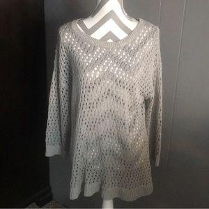 NWOT Ann Taylor Long Gray Sweater